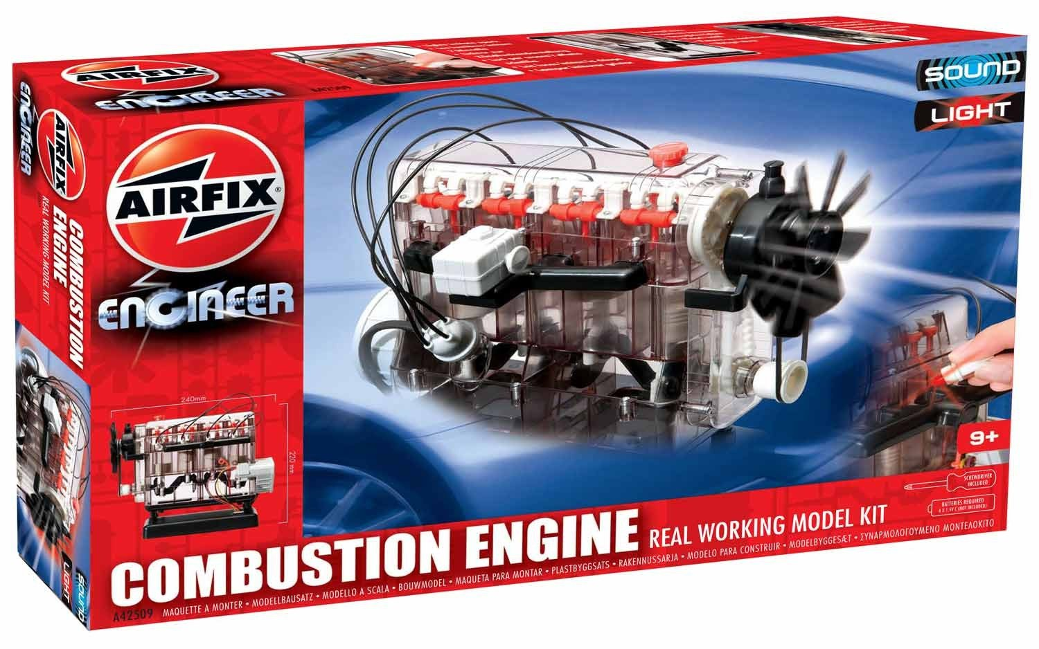 Airfix A42509 Engineer Internal Combustion Engine Educational Diagram Of A Show How Works Construction Kit Toys Games