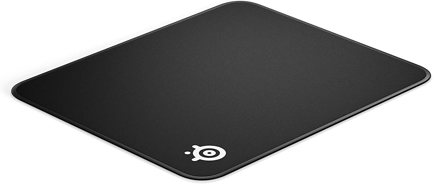 SteelSeries QcK Gaming Surface - Medium Stitched Edge Cloth - Extra Durable - Optimized For Gaming Sensors - Maximum Control