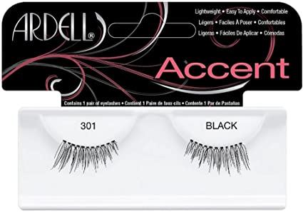 Buy Ardell Accent Lashes, Black [301] 1 Pair (Pack of 8) Online at
