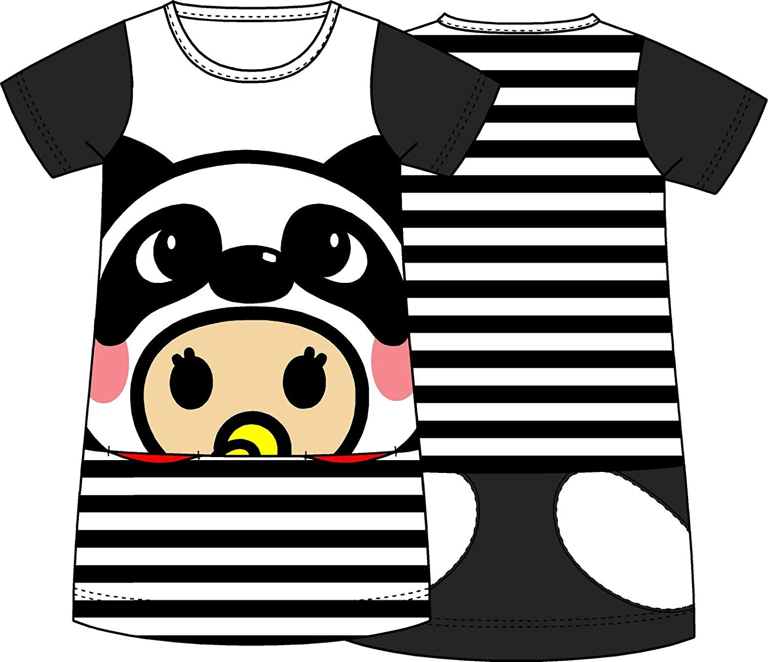 Products Bros Rinne with Panda Hat Girl One Piece Top