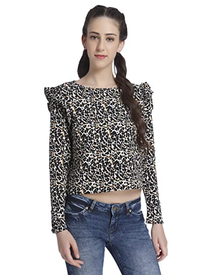 5a9c1fdb77a8a ONLY Women s Body Blouse Top  Amazon.in  Clothing   Accessories