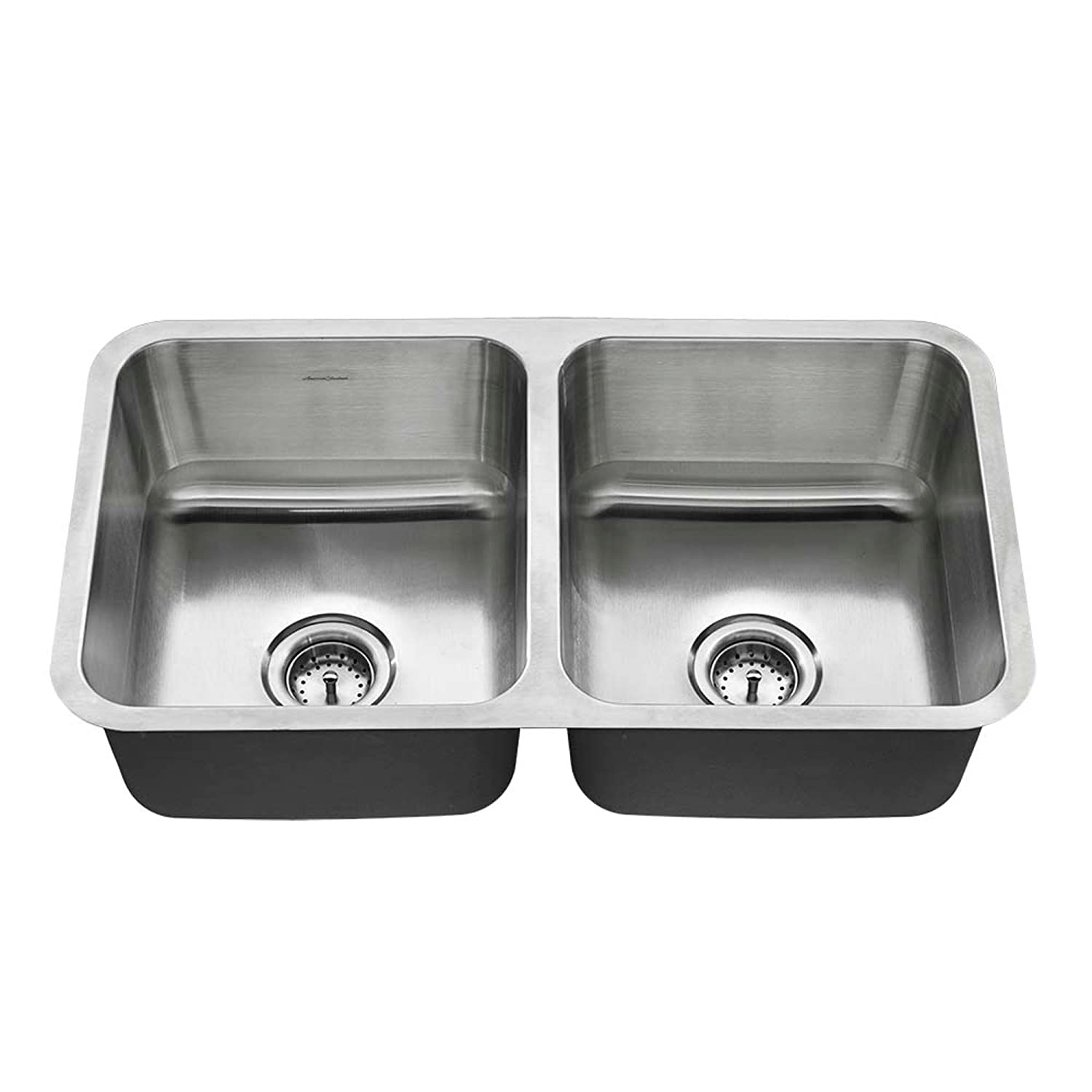 American Standard 18DB.9321800T.075 Undermount 32×18 Double Bowl Sink, Stainless Steel