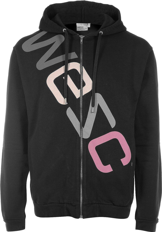 WESC - Sudadera negra con capucha y cremallera - Logo (L, Negro): Amazon.es: Ropa y accesorios