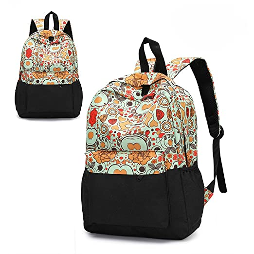 a0a9ab40664 Amazon.com  Backpack for girls, Fashion Floral College Student School  Backpack Hot Sale  Clothing