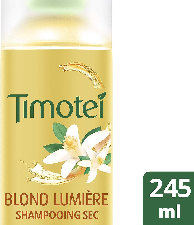 Timotei Blond Lumière, shampoing Sec pour Femmes, pour Cheveux Blonds, Naturels ou Méchés, Extrait d'Orange d'Origine Naturelle 245 ml
