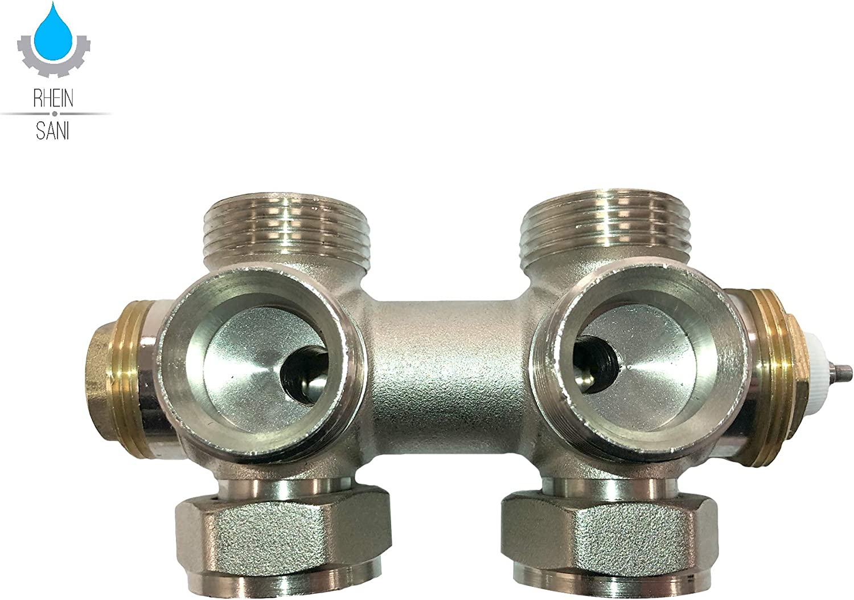 Multiblock Heizk/örper Anschluss Set Thermostatkopf Heizung Armatur Design