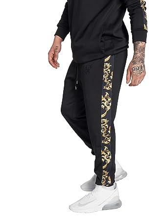 ae04f96c0b8bb7 SikSilk Men Sweat Pants Venetian Taped Cropped: Amazon.co.uk: Clothing