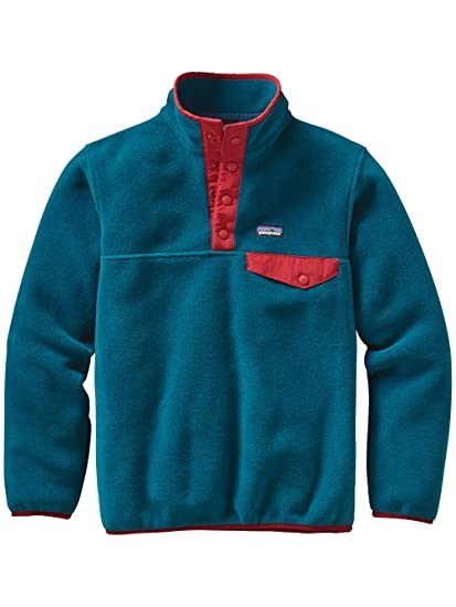 d26d1026f99 Amazon.com  Patagonia Lightweight Synchilla Snap-T Fleece Pullover - Boys    Sports   Outdoors