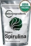 Micro Ingredients USDA Organic Spirulina Powder - Best Superfood Rich Vitamins & Minerals (520 grams / 1.15 lb)