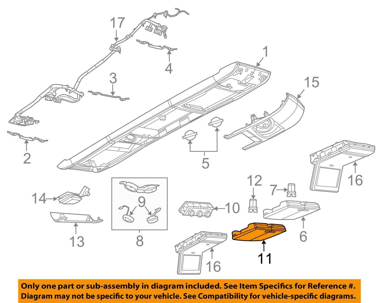 Volkswagen VW OEM 09-14 Routan Overhead Roof Console-Storage Box 7B0863351ADW1