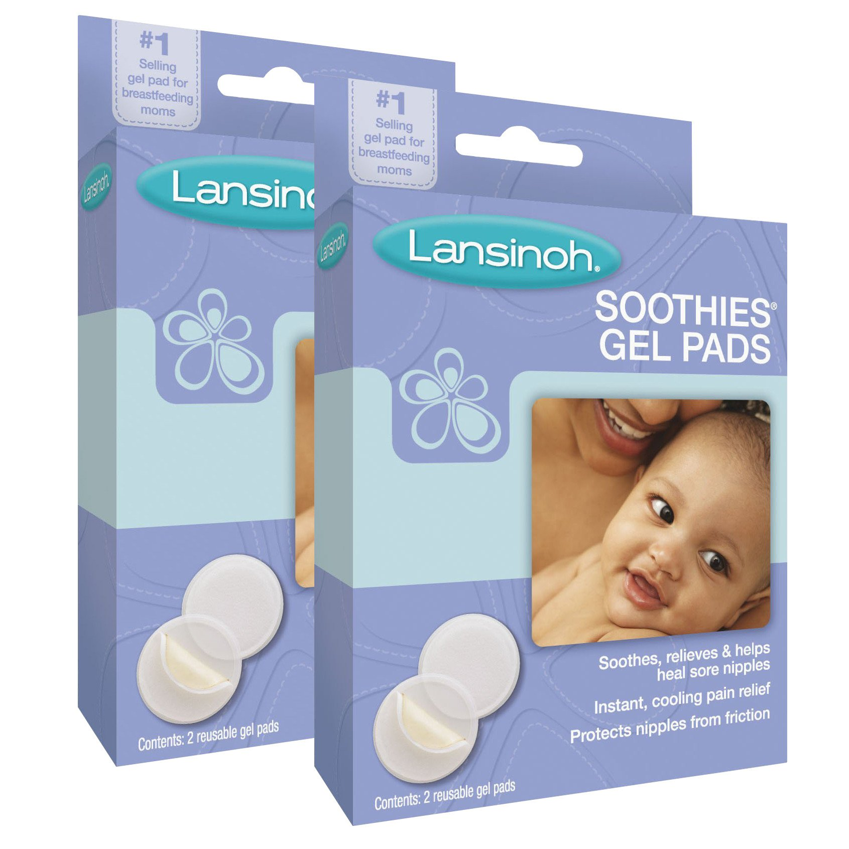 Lansinoh Laboratories Soothies Gel Pads, 4 Count