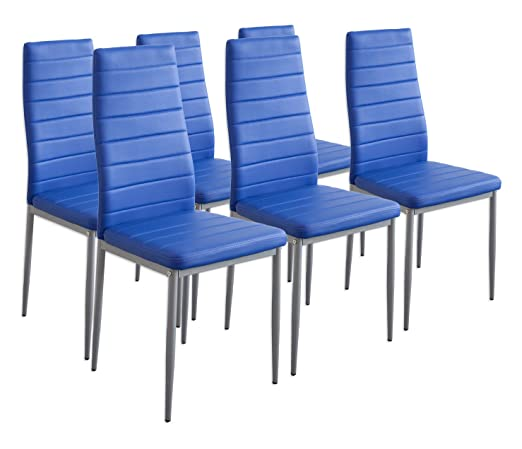 227 opinioni per Albatros 2710 MILANO- Set di 6 sedie da pranzo, blu