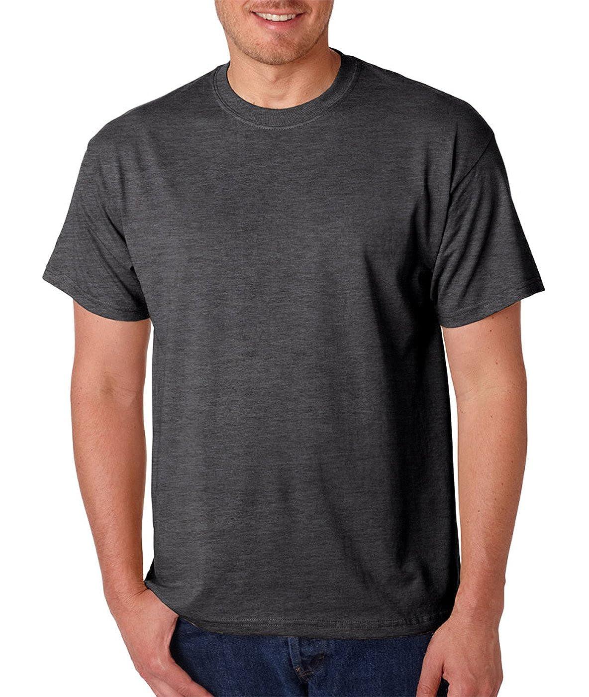 -DARK HEATH -L-12PK 50//50 T-Shirt G800 Gildan Mens DryBlend 5.6 oz.