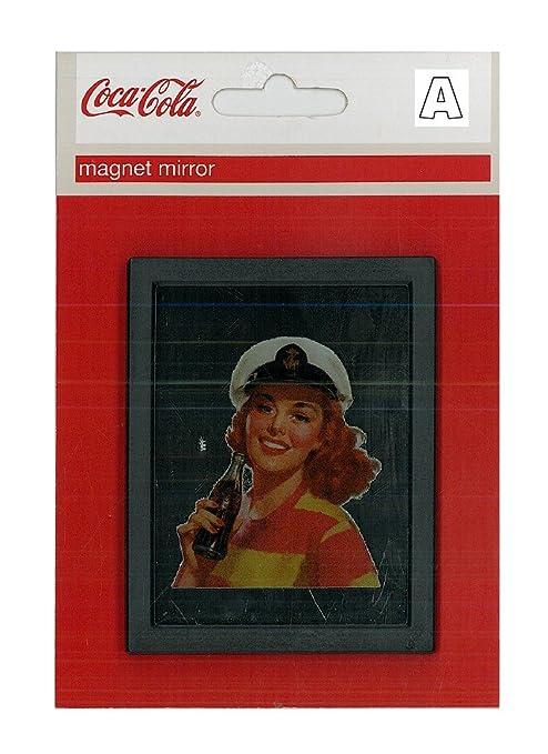 Coca Cola Imán de nevera Imán Espejo Magnet Mirror 7 x 9: Amazon ...