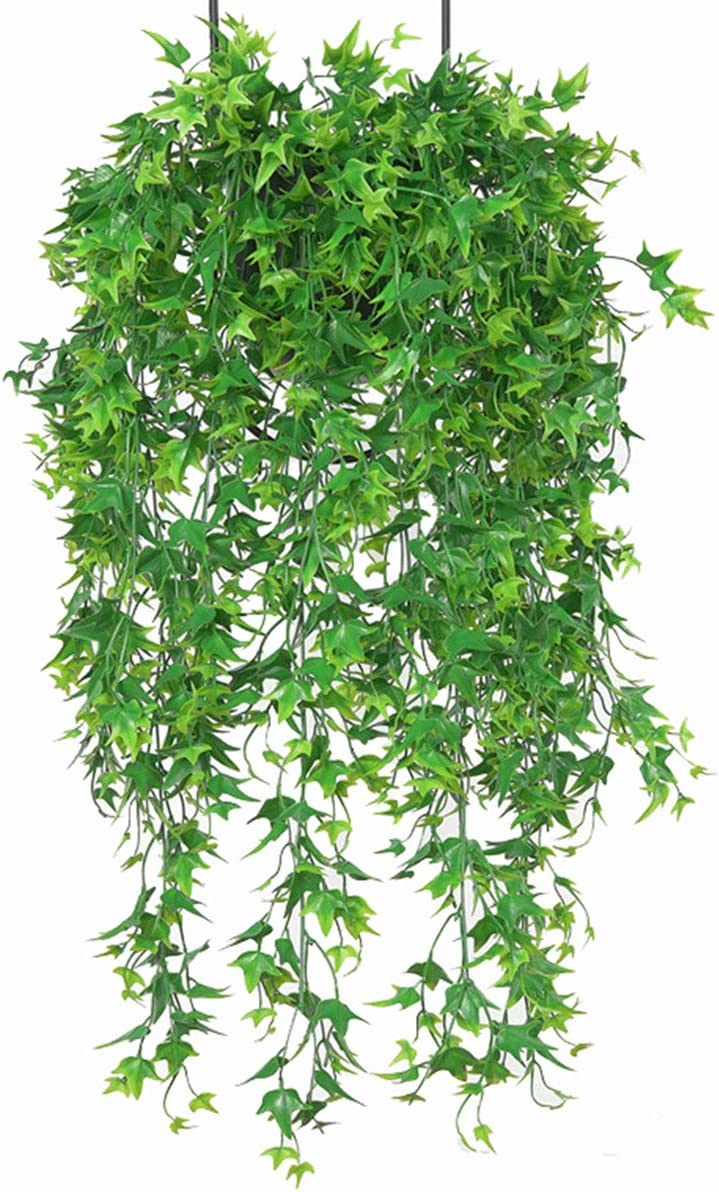 Plantes Suspendues Artificielles Feuilles De Patate Douce Fausse Vigne De Rotin pour La Maison Jardin D/écoration Murale D/écor Rouge, 4 Pi/èces