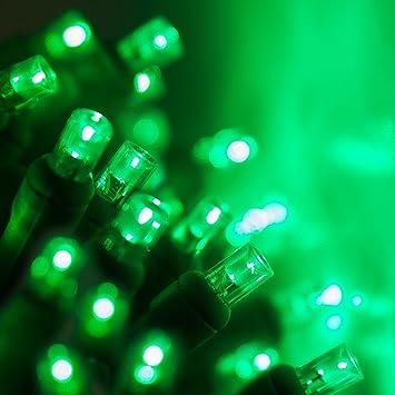 size 40 ecc4f 220b1 70 5mm Green LED String Lights, 24' Green Christmas Lights LED Halloween  Lights St. Patricks Day Lights Holiday Lights Mini Lights Halloween ...