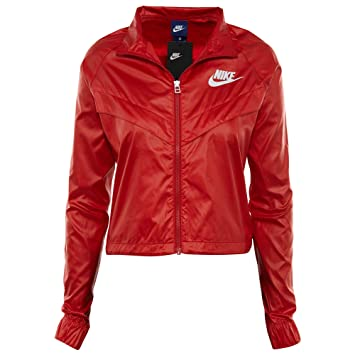 a79b8a3d1a Nike NSW W JKT Windbreaker swsh Veste Coupe-Vent Femme M Rouge (University  Red