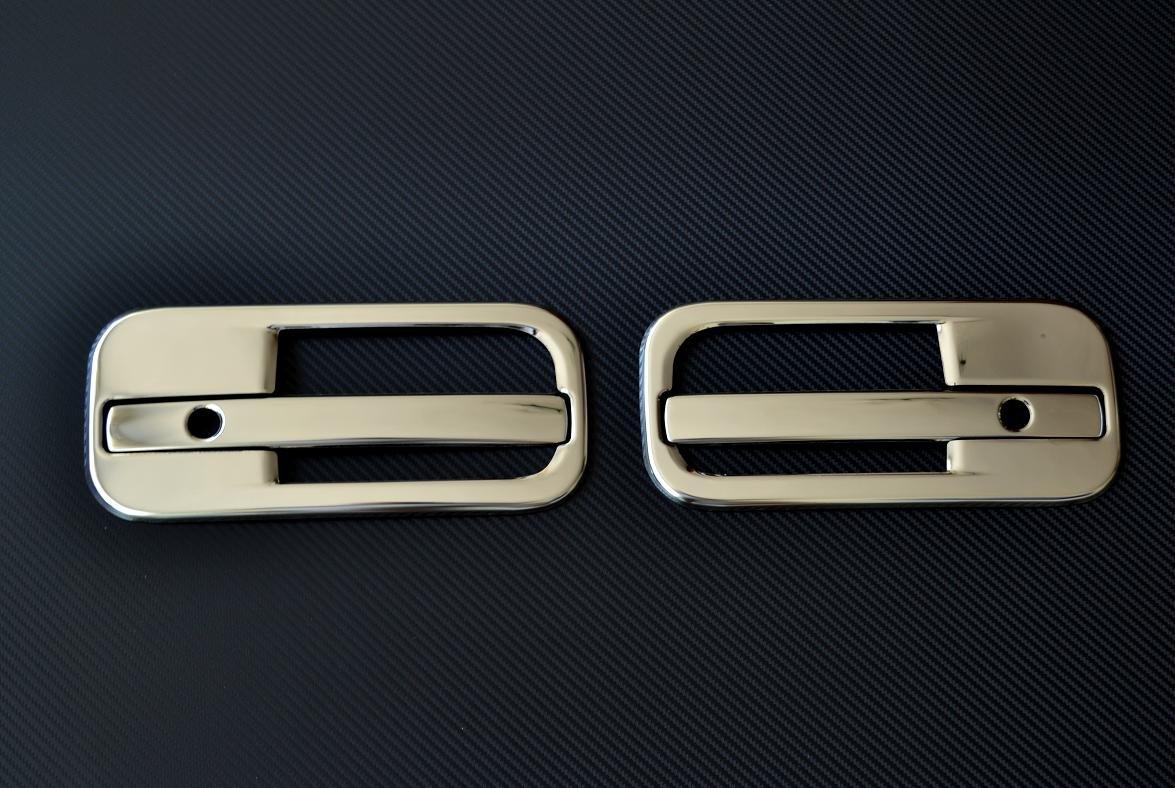 Links und rechts Edelstahl 3D Chrom Spiegel Metall Griff T/ür Bez/üge