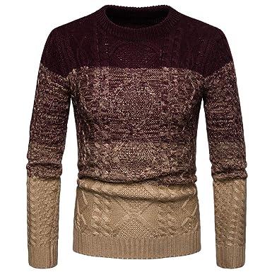 1bb9e7765af3 SUCES Herren Winter Gestrickte Pullover Sweater Outwear Strick Pullover  Rundhals Weich Bequem Beiläufige Mäntel Hohe Qualität Oberteile  Amazon.de   ...