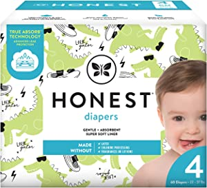 The Honest Company The Honest Company Club Box Diapers with Trueabsorb Technology, L8ter Gator, Size 4, 60 Count