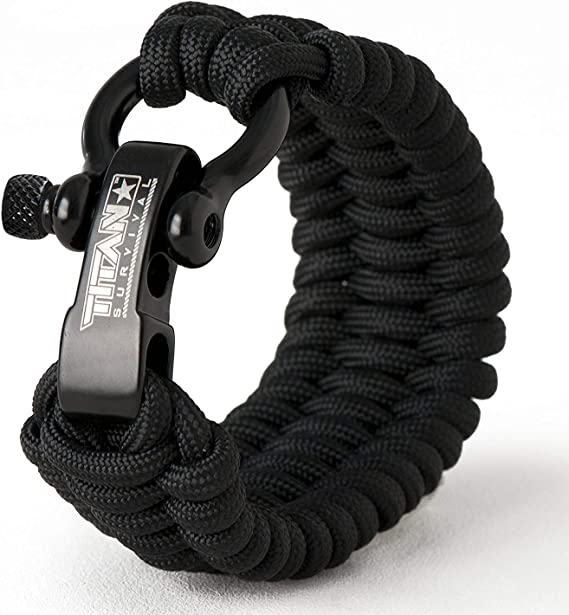 Desert Camo Survival Bracelet with Stainless Steel Bow Shackle Ideal a K6I7