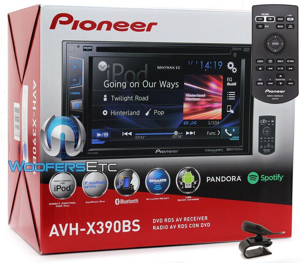 Pioneer AVH-X390BS In-Dash 2-DIN 6.2'' Touchscreen DVD Bluetooth Sirius XM Ready Stereo