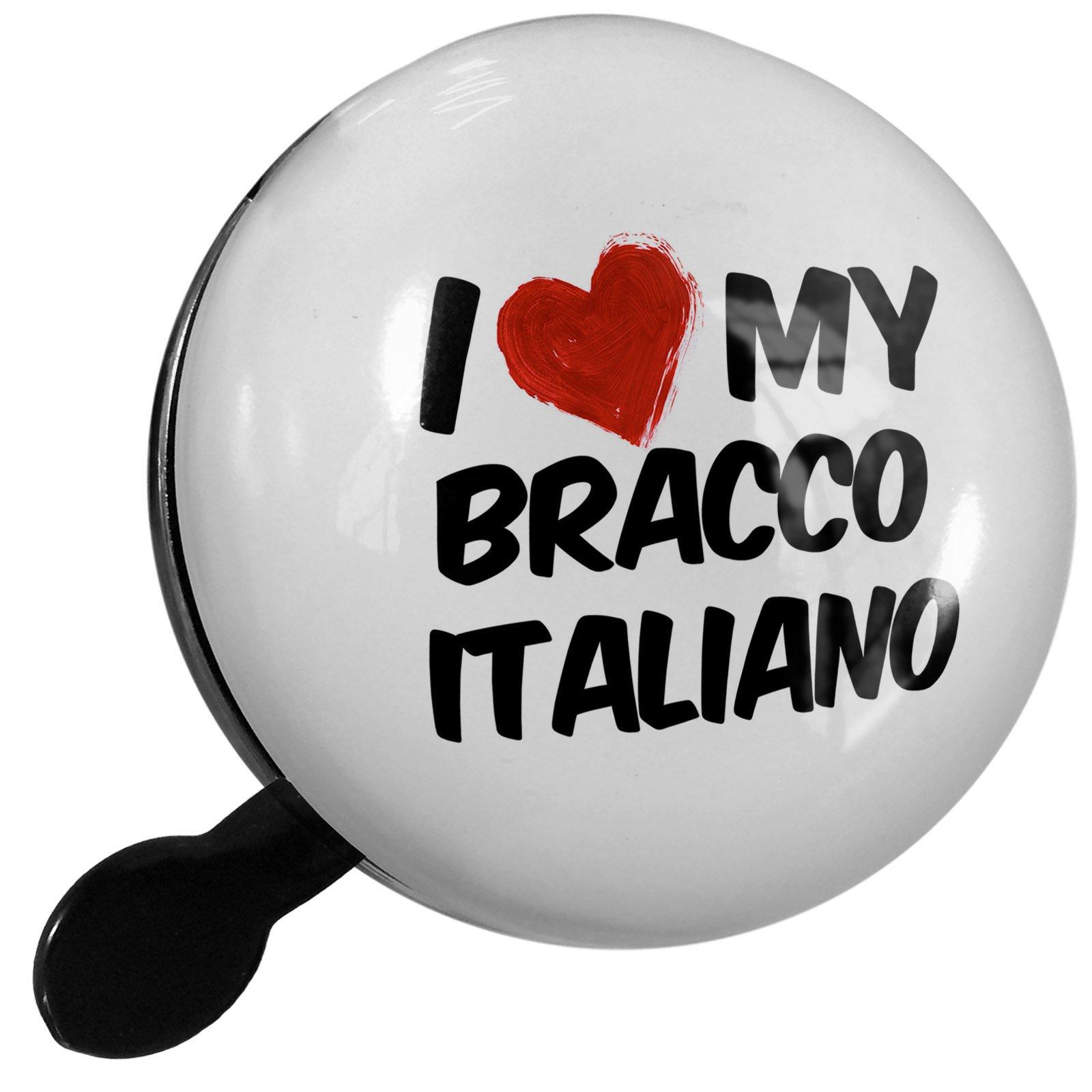 Small Bike Bell I Love my Bracco Italiano Dog from Italy - NEONBLOND