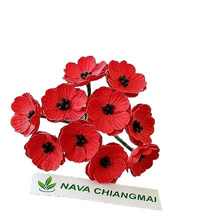 Amazon Nava Chiangmai Poppies Mulberry Paper Flower Poppy