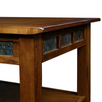 Amazoncom Rustic Oak Coffee Table Table Coffee Oak Solid Mid - Mid century oak coffee table