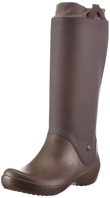 Crocs Women's RainFloe Boot B006TQMK0C 4 B(M) US|Espresso/Espresso