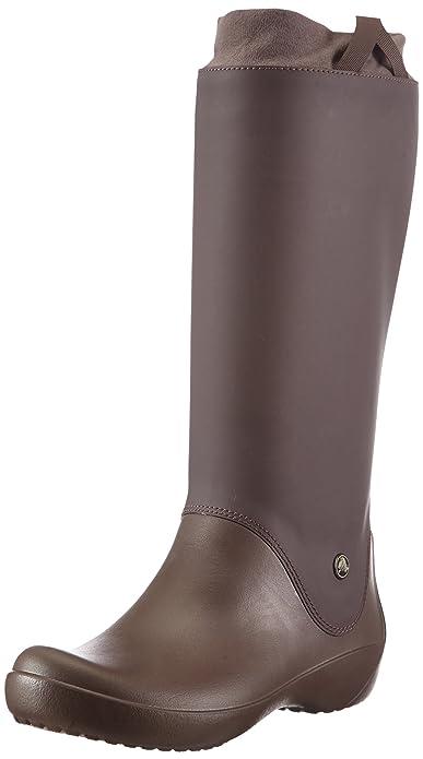 Crocs RainFloe Boot, Mujer Bota, Marrón (Espresso/Espresso), 34-