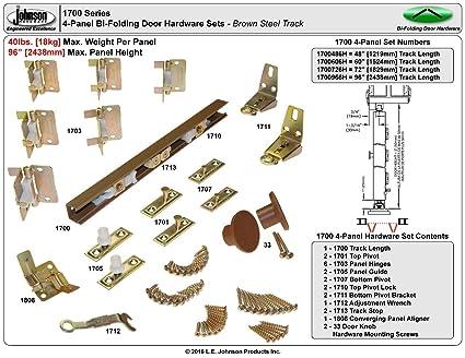 Johnson Hardware Bifold 72u0026quot; 1700 Closet Door Hardware