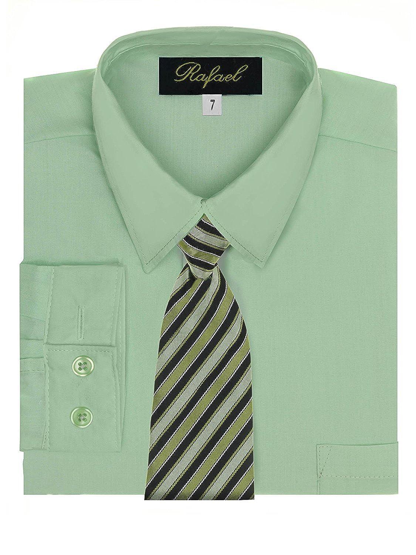 Rafael Boy's Dress Shirt & Tie - Many Colors Available