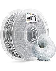 AMOLEN Stampante 3D Filamento PLA 1.75mm, Marmo 1KG,+/- 0.03mm Materiali Filamenti per Stampanti 3D, include Campione Seta e Bronzo Filamento.