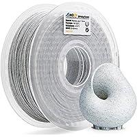 AMOLEN 3D Printer Filament, Marble Color PLA Filament 1.75mm +/- 0.03 mm, 2.2LBS(1KG), includes Sample Silk White&Bronze Filament.
