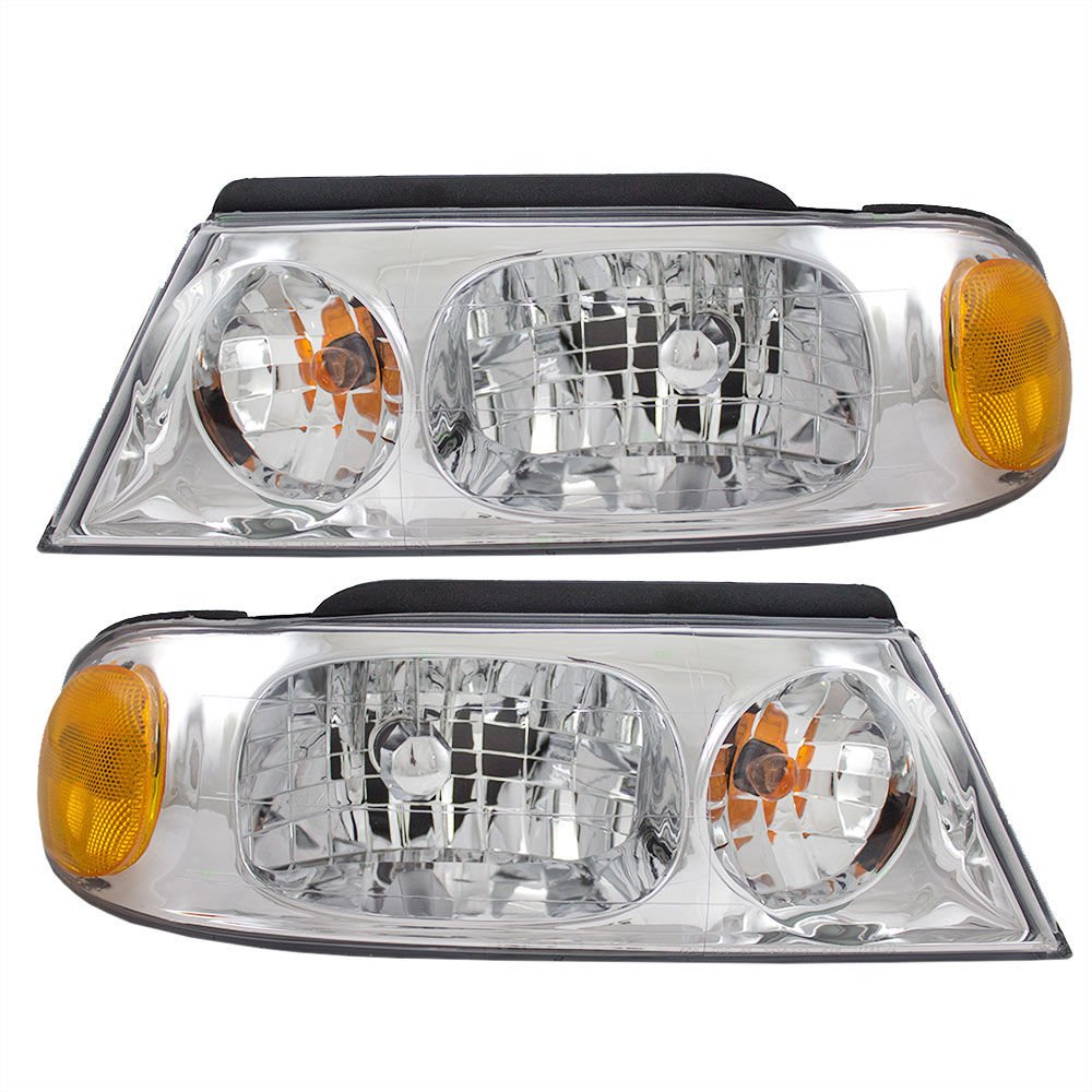 RVLightings Holiday Rambler Neptune 2002-2006 RV Motorhome Pair (Left & Right) Chrome Headlights NEW