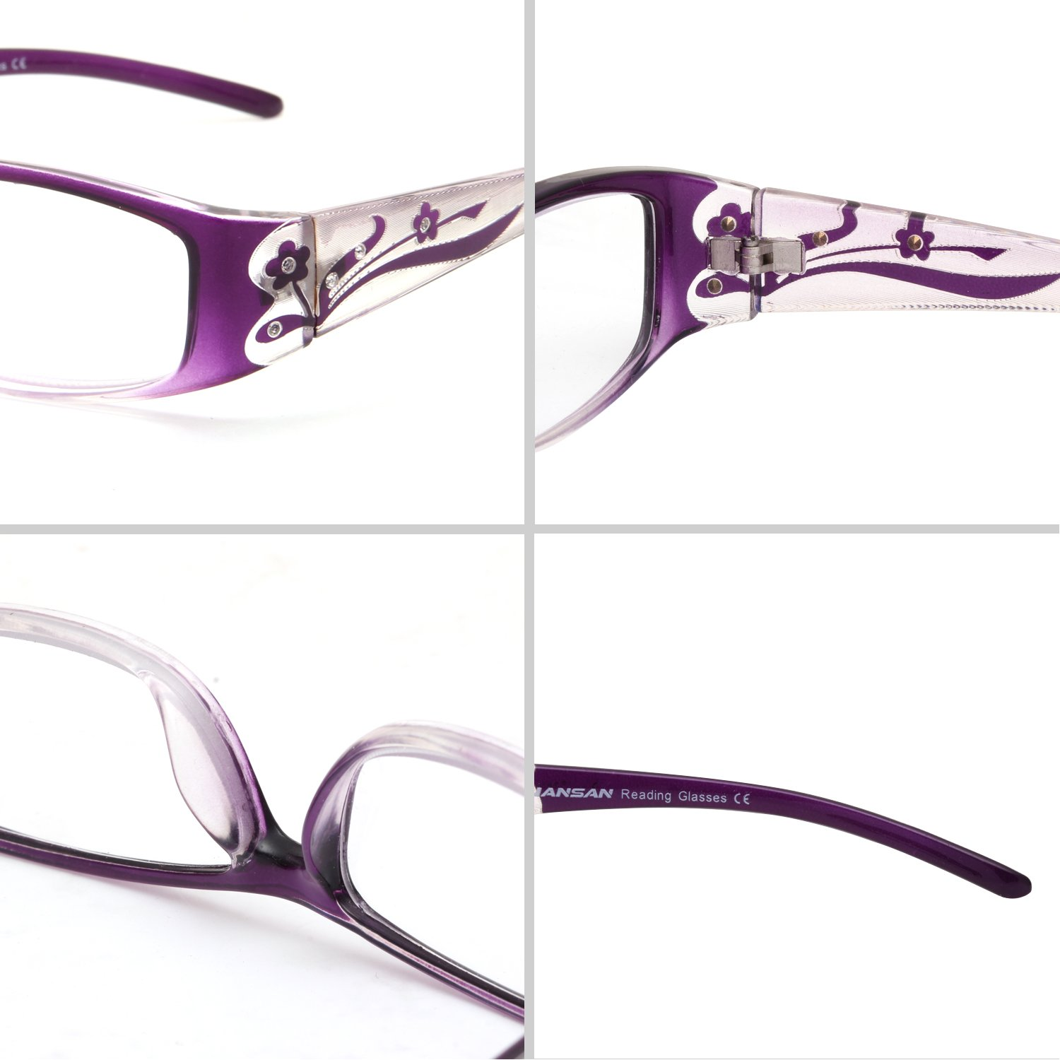 c13dd925ee43 Amazon.com  LianSan Designer Fashion Retro Ladies Readers with Bling 3 Pack  Reading Glasses for Women with Rhinestone Eye Strain Magnifying Glass 2.0  1.5 ...
