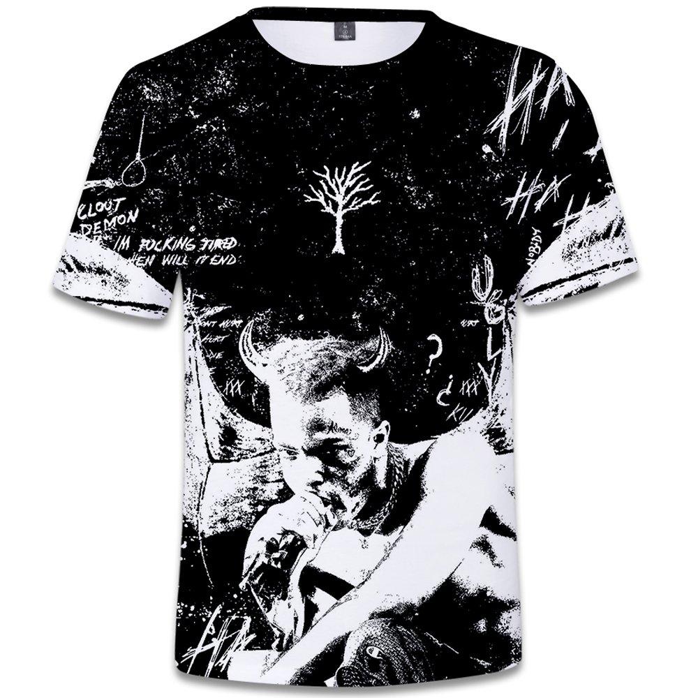 SERAPHY Unisexe 3D Printed Summer T-Shirt Xxxtentacion Boys Hip-hop Top Shirt Q0769 L