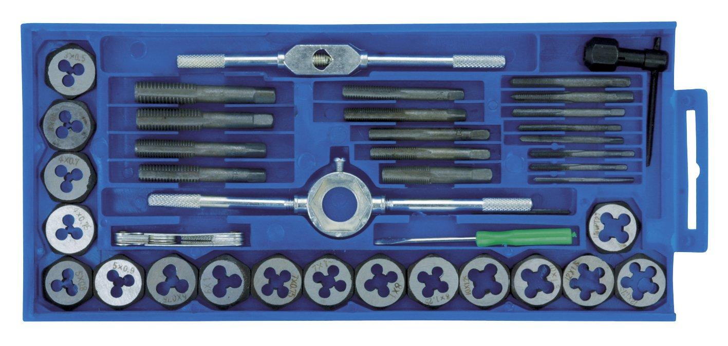 Cogex 22416 - Estuche de machos y terrajas (acero forjado)