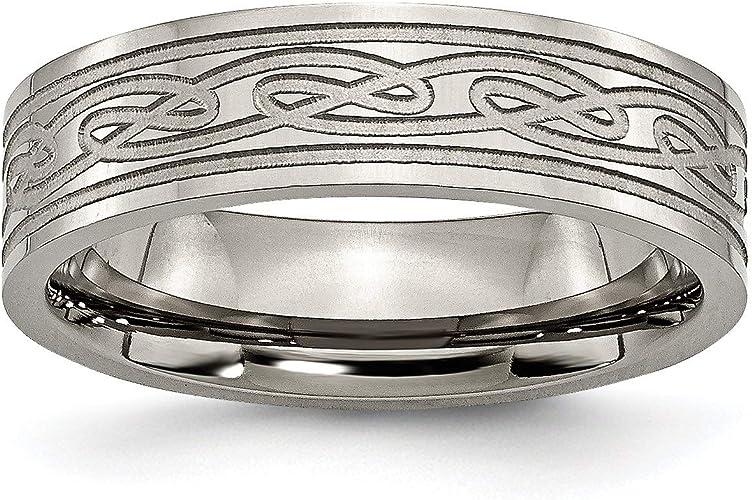Amazon Com Titanium Celtic Knot 6mm Mens Wedding Ring Size 10