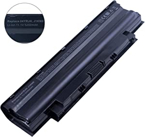 Bay Valley Parts J1knd Laptop Battery for Dell Inspiron N5010 N5030 N5040 N5050 N7010 N7110 N4010 N4110 M5030 M5010 M5110 3520, Vostro 3450 3550 3750,Fits P/n 4t7jn [6-Cell 5200mah/58wh