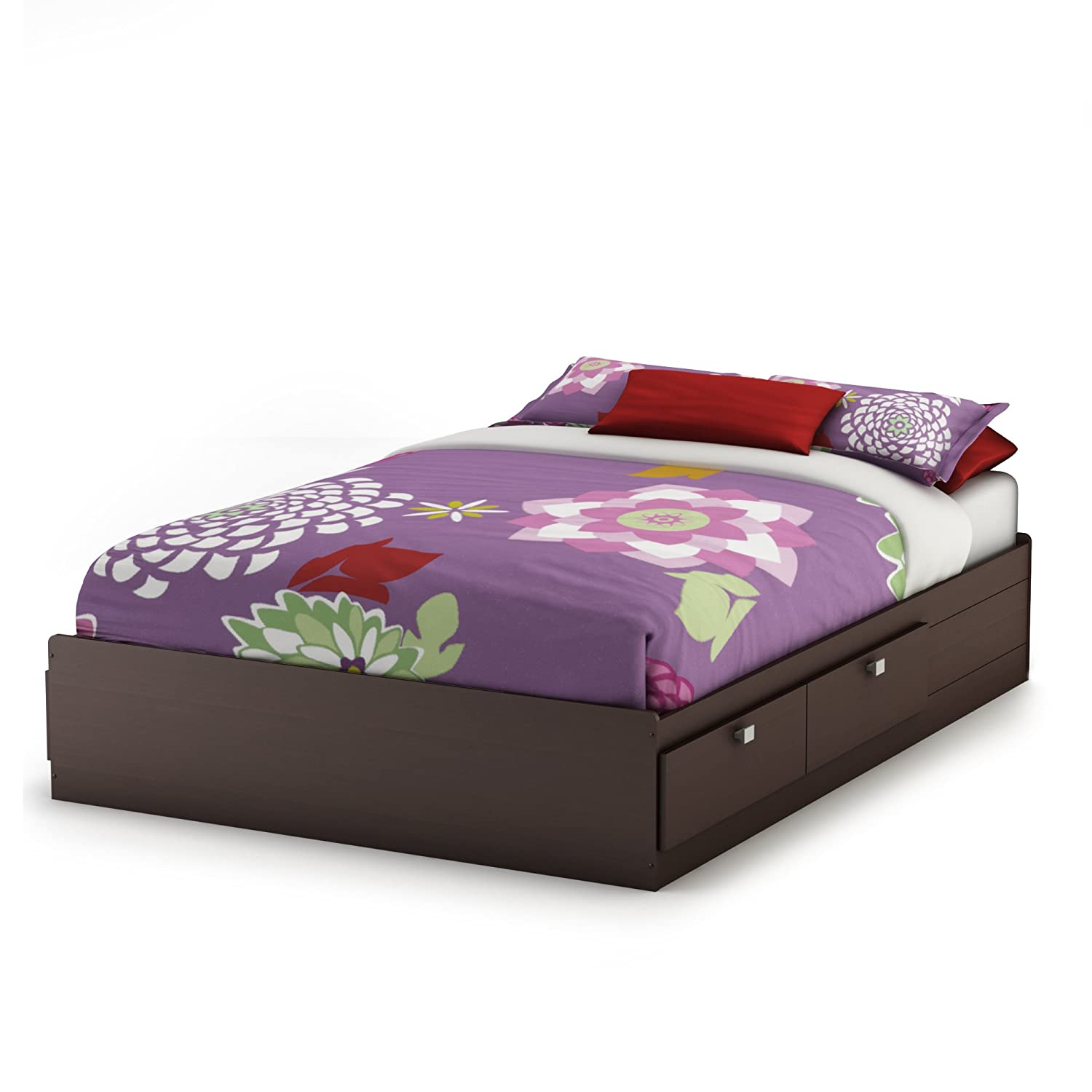 Lesley Bedroom Furniture Collection Amazoncom South Shore Furniture Cakao Collection Full Mates Bed