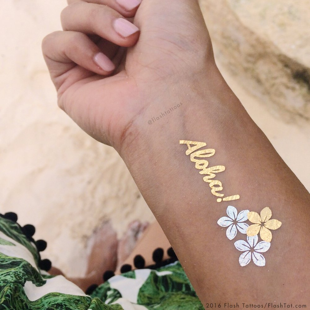 BEACH BLING BUNDLE includes Flash Tattoos topical-inspired Beach Queen Variety Set (25 tats) and Zarha 4-sheet pack by Flash Tattoos (Image #2)