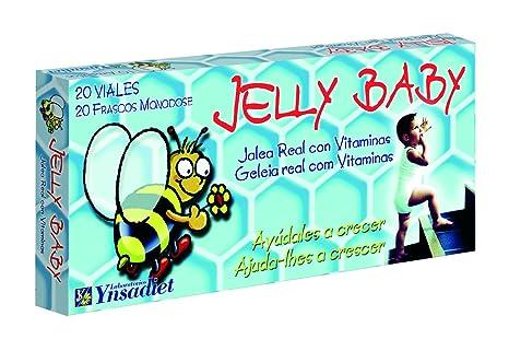 Ynsadiet Jelly Baby - Jalea Real con vitaminas, 20 Viales