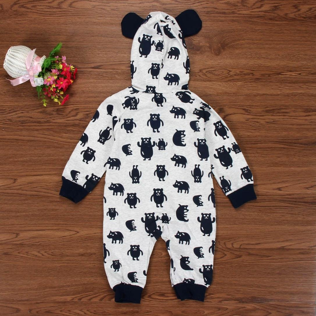 For 0-24 Months Baby,DIGOOD Newborn Baby Boy Girl Winter Cartoon Hoodie Romper Warm Coat Outwear Clothes