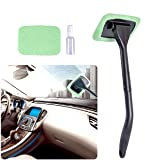 AutoEC Auto Glass Cleaner Wiper Keeps Cars Vehicles Interior Exterior Windshields Windows Clean, Come with 2 Pads Washer Towel and 30ml Spray Bottle, Use Wet or Dry