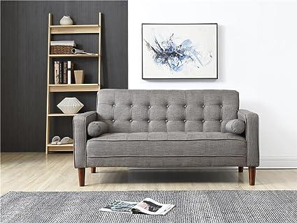 Admirable Amazon Com Small Space Button Tufted Sofa Couch Durable Machost Co Dining Chair Design Ideas Machostcouk