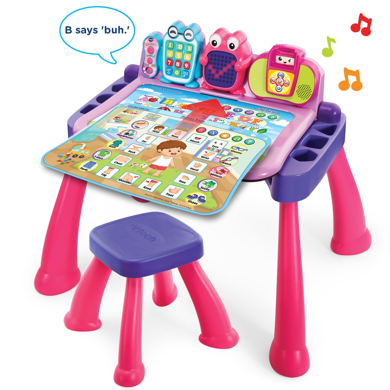 Vtech Touch And Learn Activity Desk Deluxe Pink Amazon
