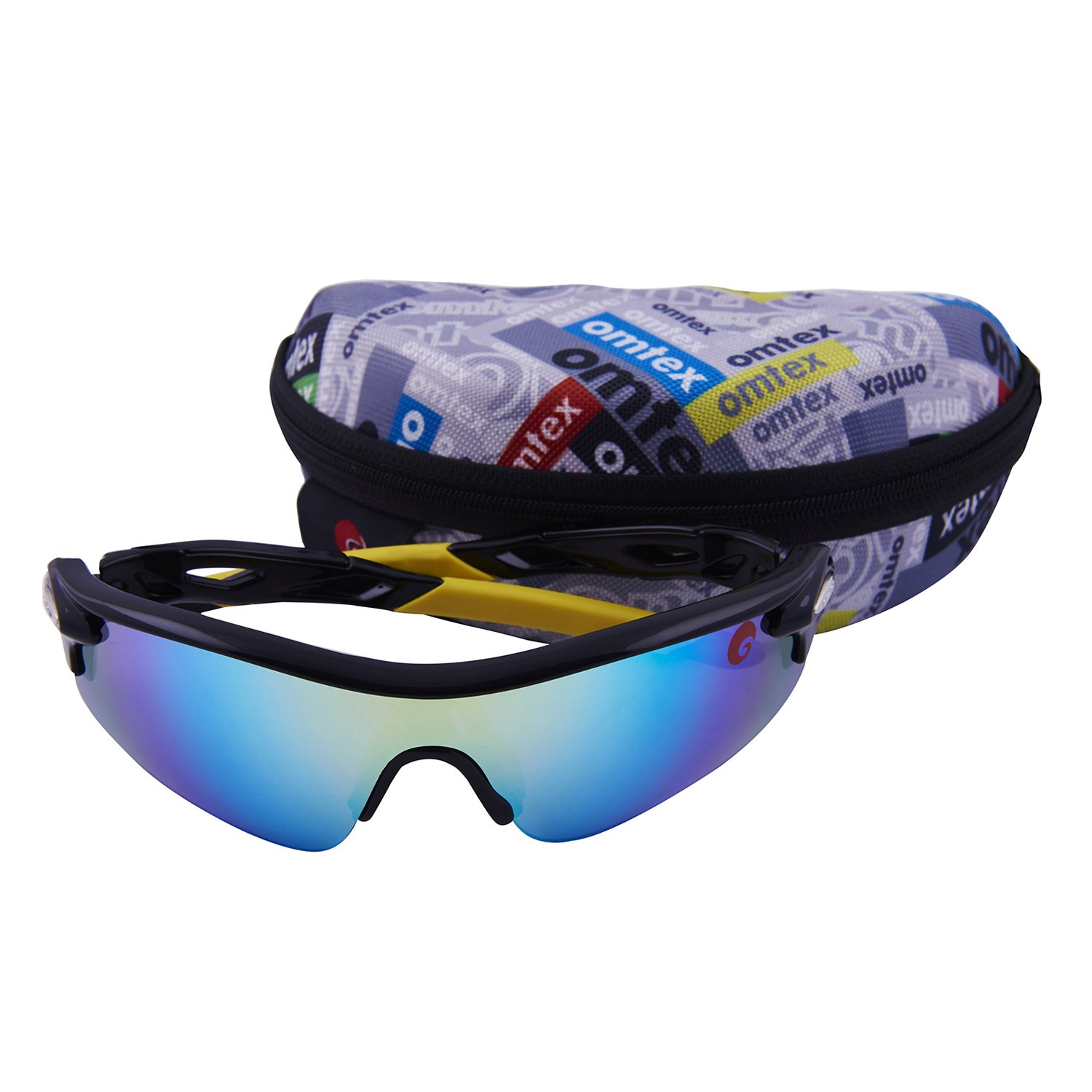 163ddd053e Omtex Sports Sunglasses (Flash Yellow)  Amazon.in  Clothing   Accessories