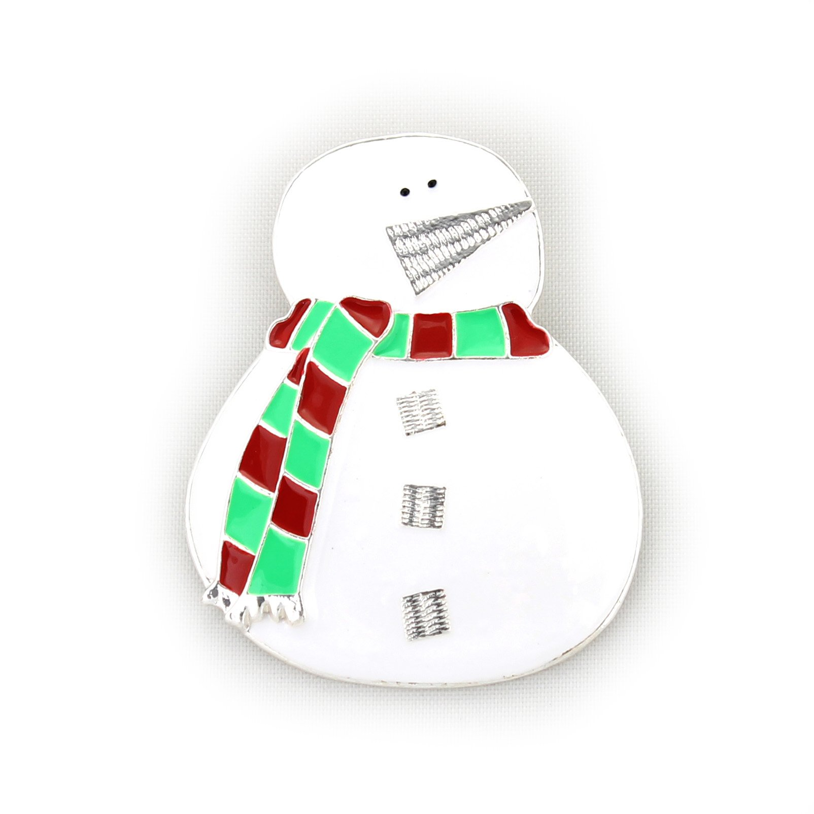 Seasons Jewelry Snowman with Scarf Pin/Pendant